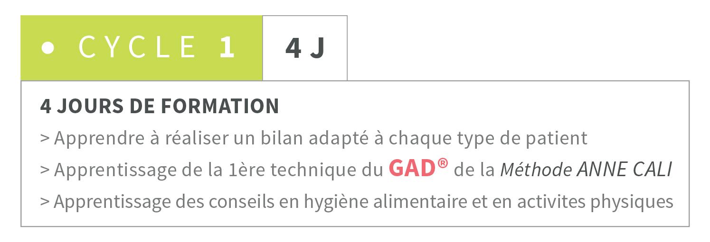 Formation cycle 1 méthode GAD